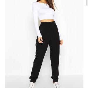 Boohoo Woven Twill Pocket Combat Trouser